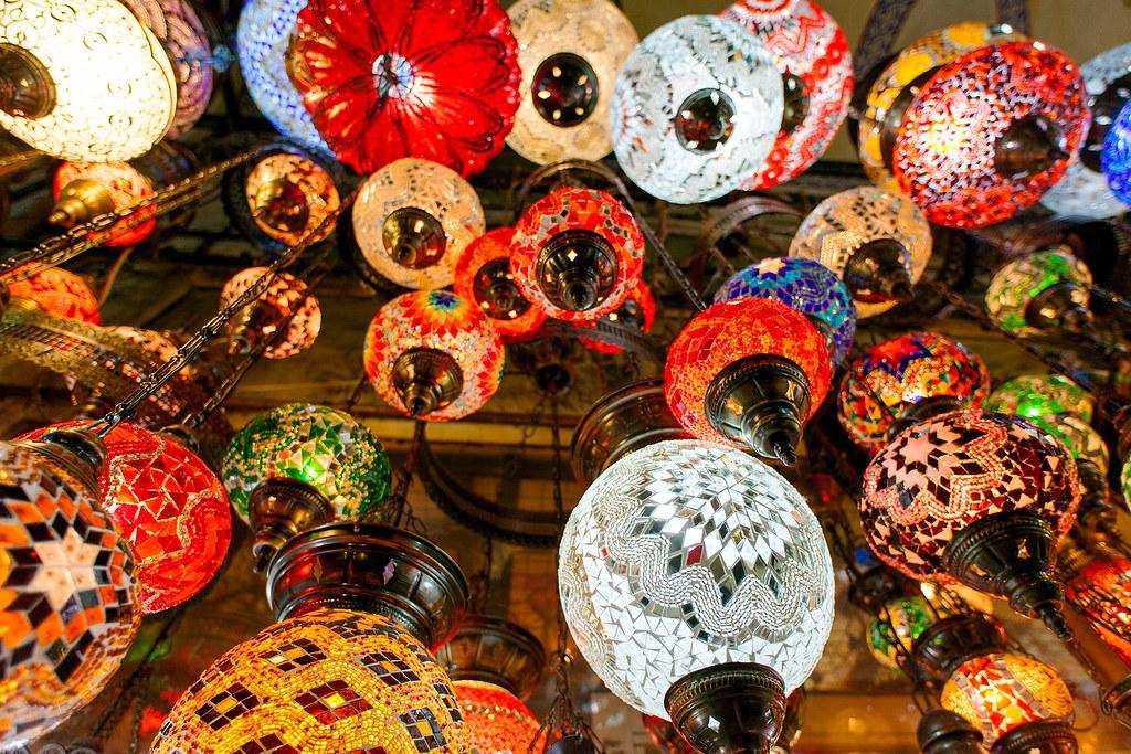 Lamp merchant at the Grand Bazaar, Istanbul.
