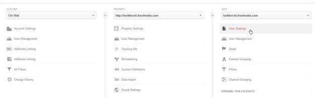 Google Analytic - View Settings
