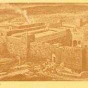 """James Tissot Bible c 1900 Reconstruction of Jerusalem and the Temple of Herod from """"La Vie de Notre Seigneur Jésus Christ"""