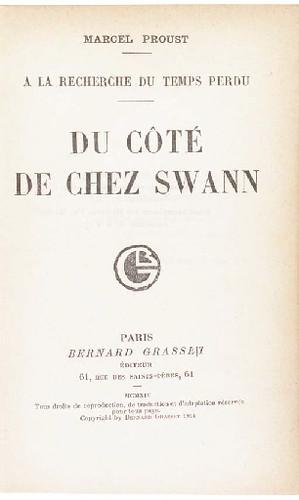 Proust Du cote de chez Swann