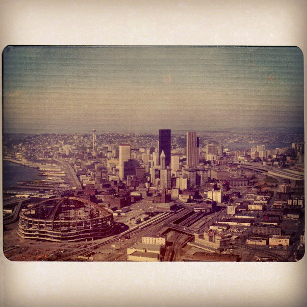 The Kingdome and Downtown Seattle [1975]