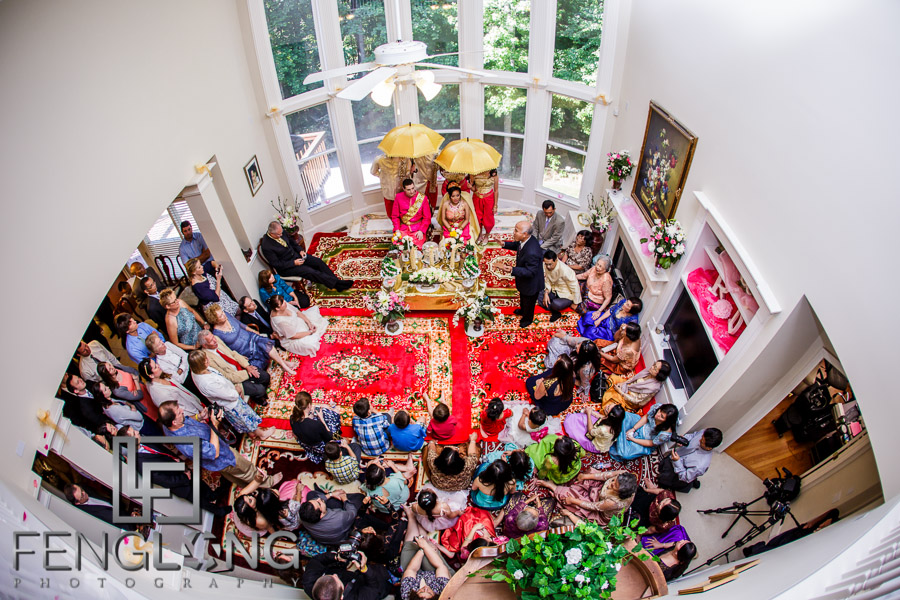 Cambodian wedding ceremony in bride's house