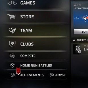 MLB Tap Sports Baseball '17 menu