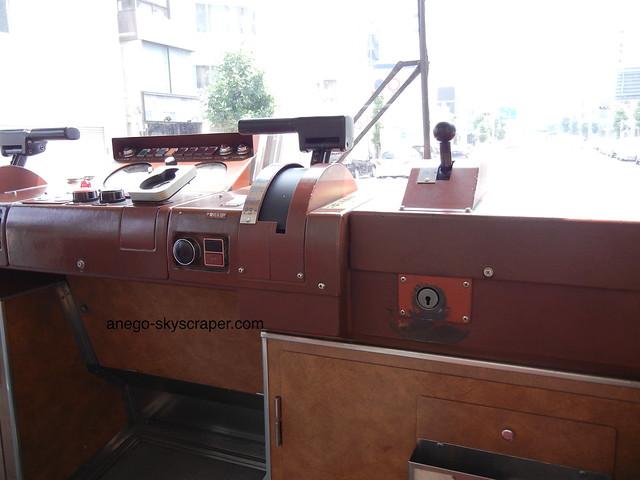 広島:トラムの運転席