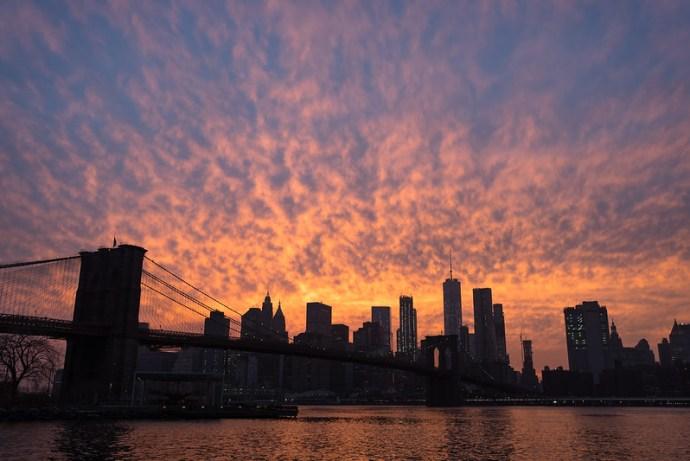 Web Brooklyn Bridge sunset 1