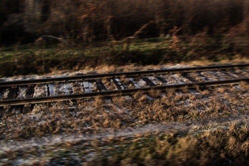 Heading away from the Black Sea, and ice covers the tracks as the temperature starts to drop