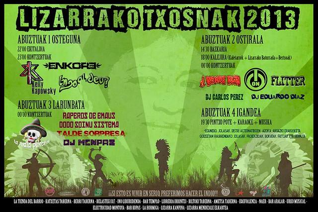 Lizarrako txosnak 2013
