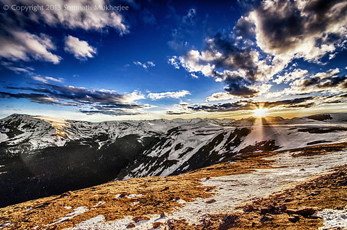 Sunset over Iceberg Pass | Rocky Mountain National Park, CO | June, 2013 by Somnath Mukherjee Photoghaphy