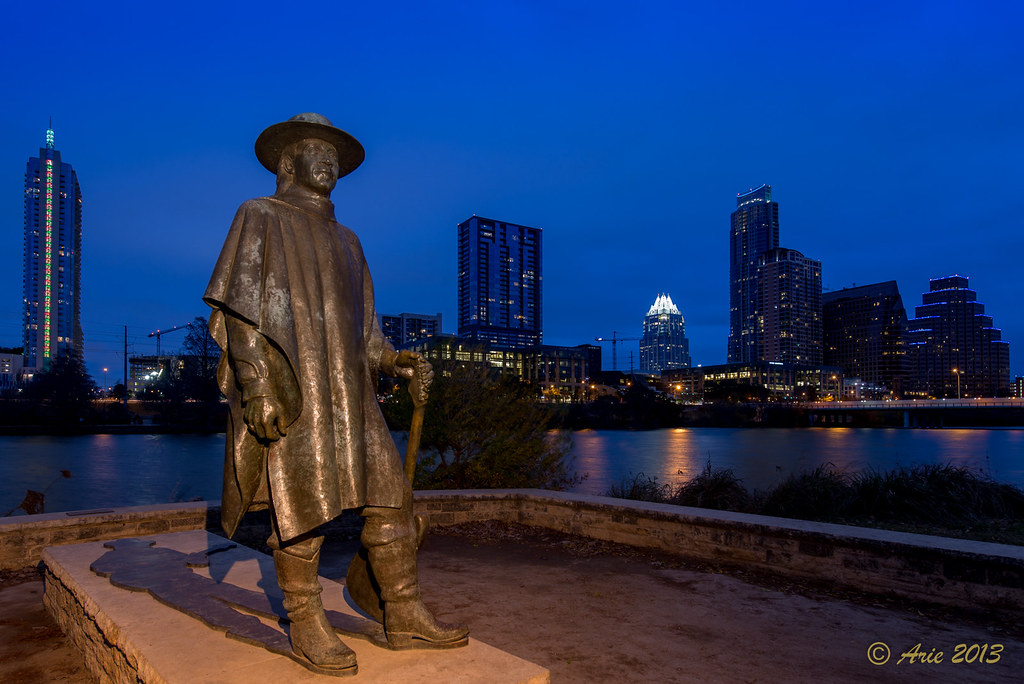 Stevie Ray Vaughan Statue in Austin, Texas