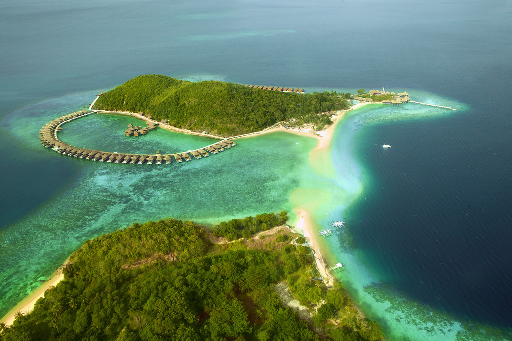 HUMA Island Resort top view
