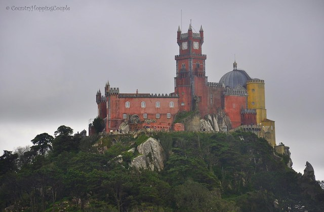 View of Pena Palace from Moorish Castle