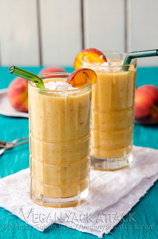 A refreshing Grilled Peach Lassi with grilled fruits and creamy coconut yogurt. Simple,delicious, and dairy-free! Vegan, Nut-free