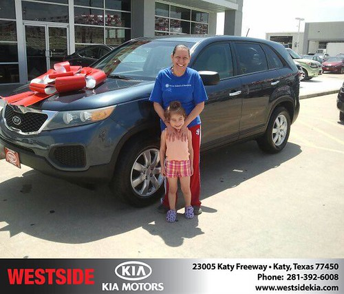 Thank you to Diana Lopez on the 2011 Kia Sorento from Gil Guzman and everyone at Westside Kia! by Westside KIA