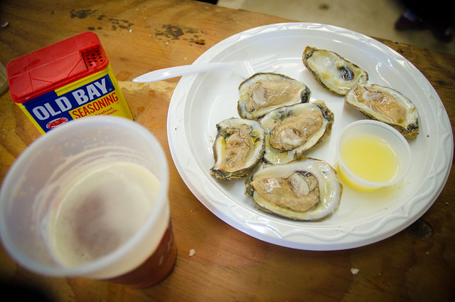 Raw Oysters and beer