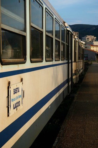 Train from Ajaccio to Corte, Corsica