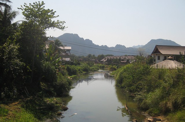 Mekong River Winding Through Vang Vieng
