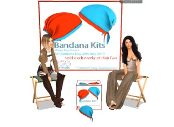 How to make a Bandana for Bandana Day and Hair Fair 2013 - Link to Video