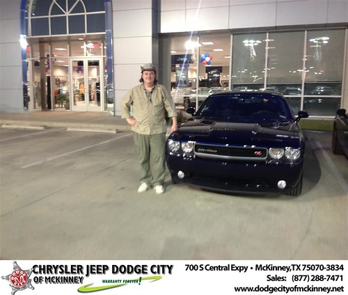 Thank you to Richard Rocha on the 2013 Dodge Challenger from Brent Villarreal and everyone at Dodge City of McKinney! by Dodge City McKinney Texas