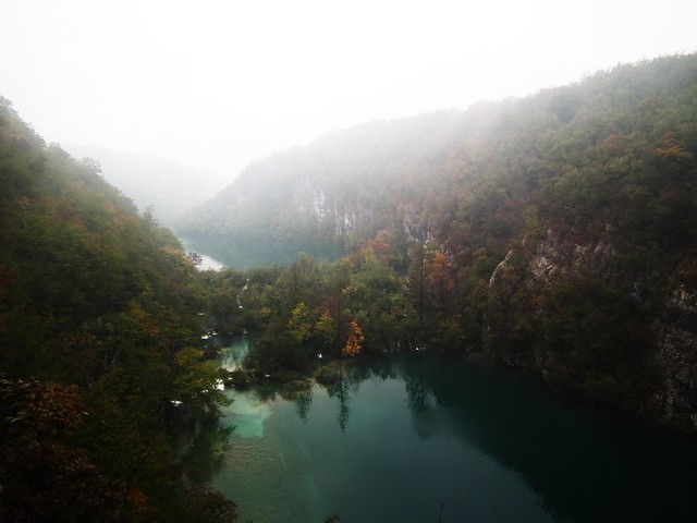 Fog over the Plitvice Lakes National Park