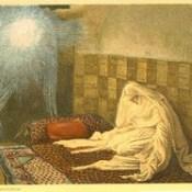 """Phillip Medhurst presents 405/740 James Tissot Bible c 1900 The Annunciation from """"La Vie de Notre Seigneur Jésus Christ"""