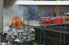 Feuer Lagerhalle Firma Knettenbrech Biebrich 16.06.13