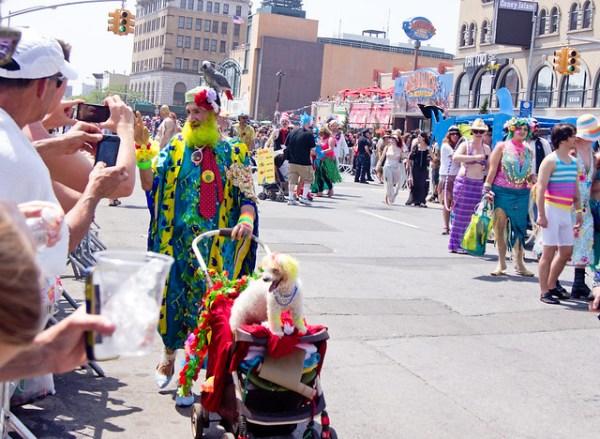 Ms. Columbia was at the Mermaid Parade - 2013