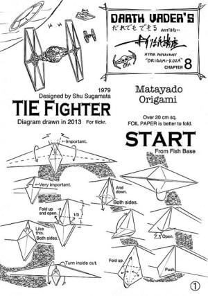 TIE Fighter origami diagram 1 | Flickr  Photo Sharing!