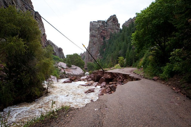 Flood in Eldorado Springs and Boulder