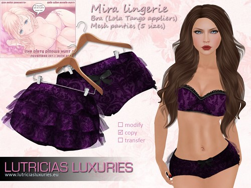 [L] Mira lingerie Dirty pillow hunt by Lutricia Roux