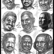 ILAIYARAJA the GREAT in INDIAN MUSIC - Art by Artist Anikartick,Chennai,2014 Wishes to All.