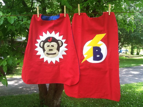 Custom cotton superhero capes