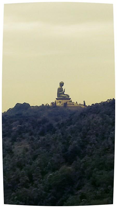 view of Tian Tian Buddha