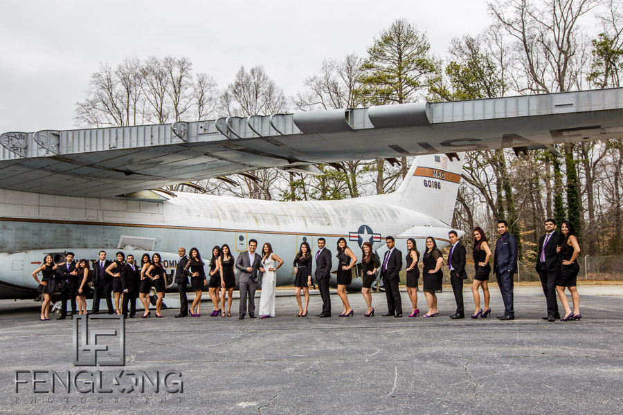 Indian pre-wedding shoot in Atlanta with airplane