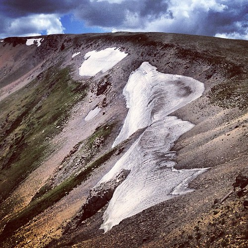 Rocky Mountain Snow Field by @MySoDotCom
