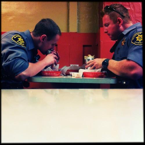 Photo of sheriffs eating burritos by pixplz