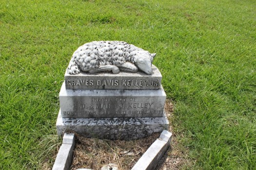 Kelley Family Monuments at Utica Cemetery, Utica MS