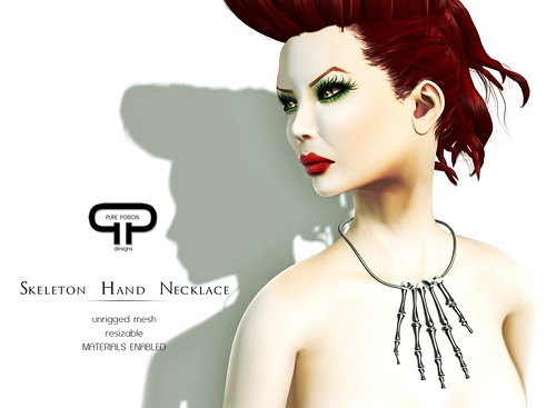 Pure Poison - Skeleton Hand Necklace - available in 3 colors