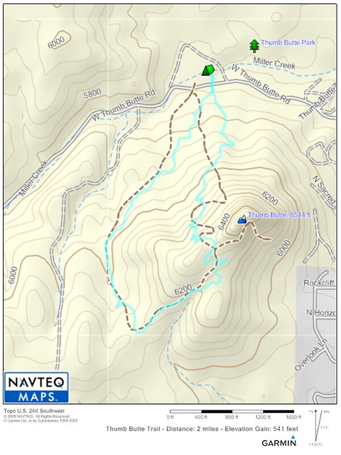 Thumb Butte Trail Map