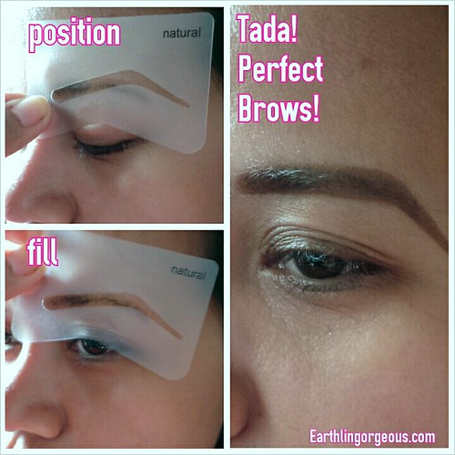 Makeup factory Eyebrow Powder with Stencil review