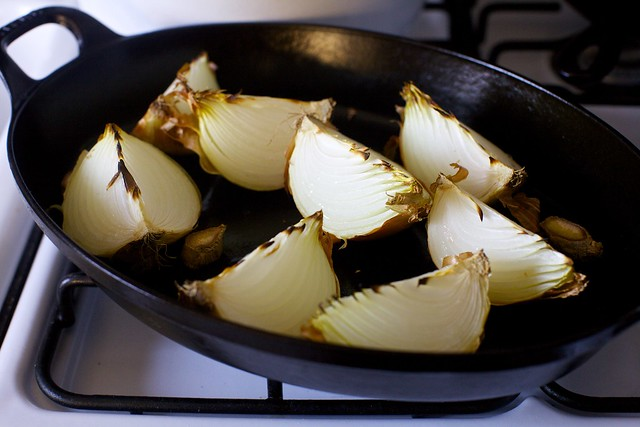 roasted onions and garlic