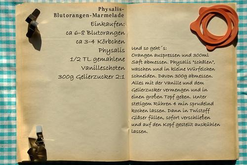 Einkaufszettel Physalismarmelade by Glasgefluester