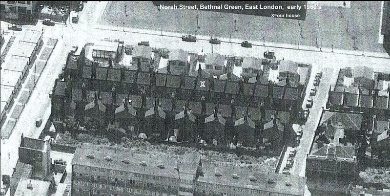 Aerial view of Norah Street around the 1950's