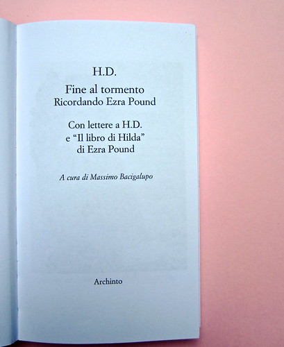 H. D., Fine al tormento. Archinto / RCS 2013. [responsabilità grafica non indicata]. Frontespizio (part.), 1
