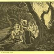 """Phillip Medhurst presents 414/740 James Tissot Bible c 1900 The angel and the shepherds from """"La Vie de Notre Seigneur Jésus Christ"""