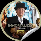 Dr. Takeshi Yamada, the Immortalizer of the AMC television competitive art show IMMORTALIZED, new unscripted original series, Premieres February 14, 2013. cast, official poster, Copyright © 2010-2013 AMC Network Entertainment LLC. All rights reserved.