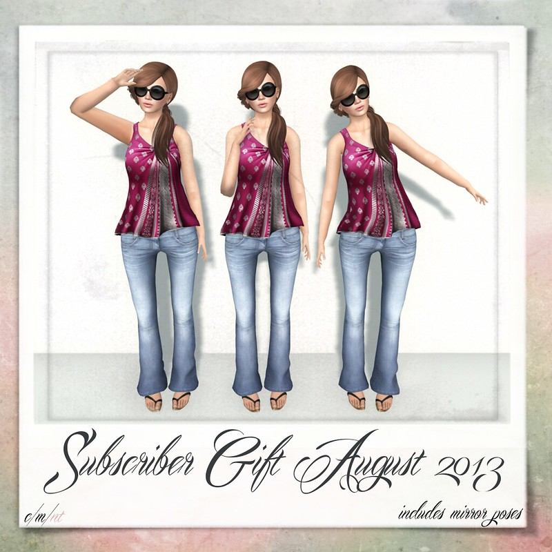 Flash Friendly Poses Subscriber Gift August 2013