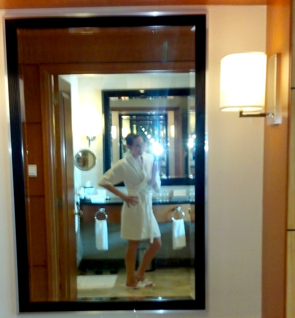 Hotel robe in the Pan Pacific, Manila, Philippines.