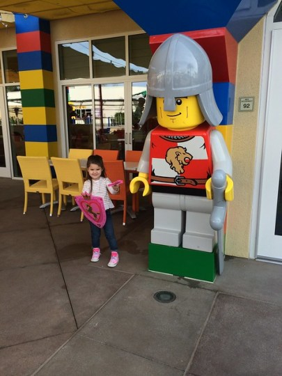 with the Lego Knight