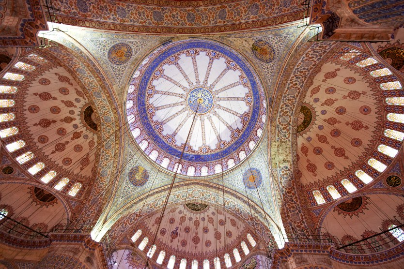 Ceiling of the Blue Mosque.