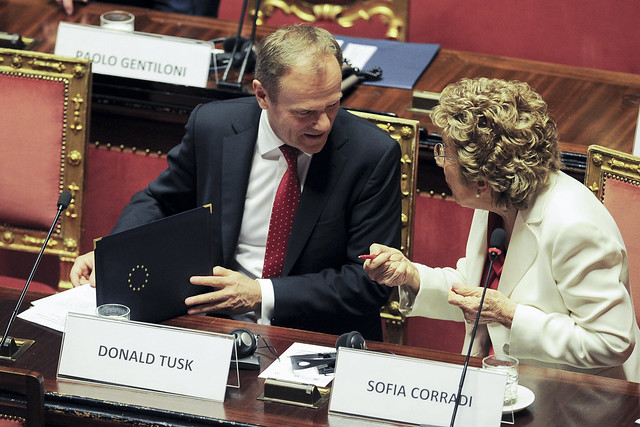 President Tusk participates on Conference of Speakers of EU Parliaments in Italy
